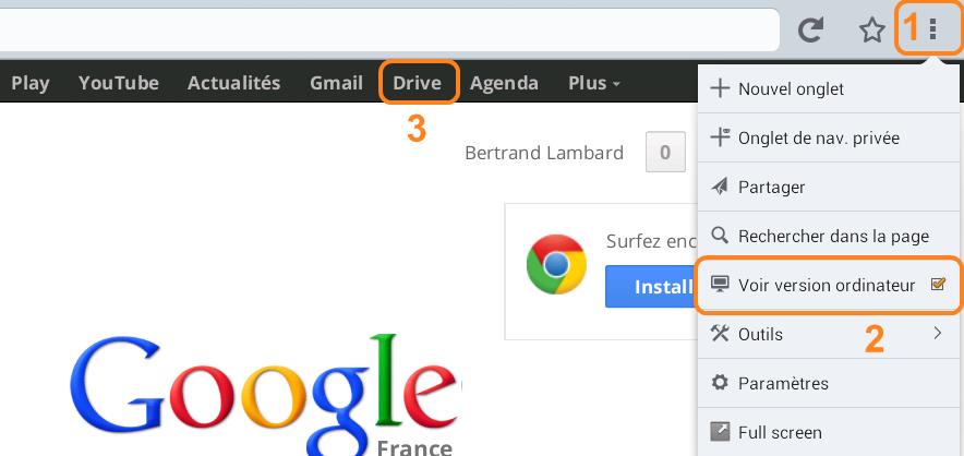 réglages de Firefox sous android